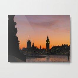 The Sun Sets on England Metal Print