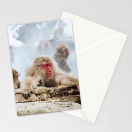 The Japanese macaque also known as the snow monkey Stationery Cards