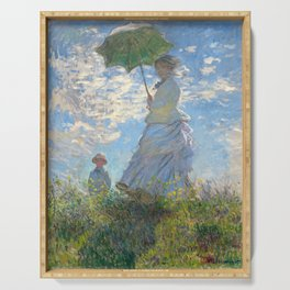 Monet - Madame Monet and Her Son - 1875 Serving Tray