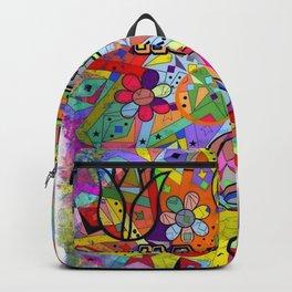Happy Popart by Nico Bielow Backpack