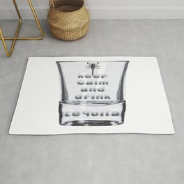 Blurred Vision Keep Calm And Drink Tequila Shots Rug