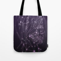 constellation Tote Bags featuring Constellation by Zak Rutledge