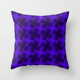 Rotated rhombuses of violet crosses with shiny intersections. Throw Pillow