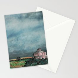 Storm over Pink House Newburyport MA Stationery Cards
