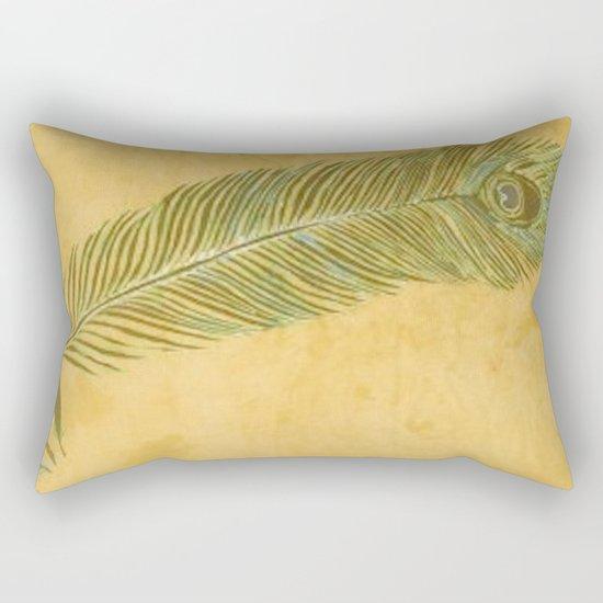 Peacock Batik Rectangular Pillow