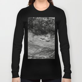 Black Tempest - Abtract Ocean Sea Pattern in Black And White Long Sleeve T-shirt