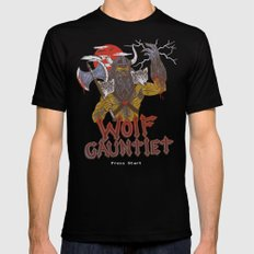 Wolf Gauntlet Black MEDIUM Mens Fitted Tee