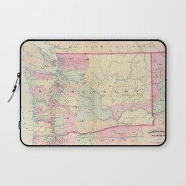 Vintage Map of Washington State (1874) Laptop Sleeve