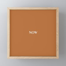 Now SUGAR ALMOND bronze solid color  Framed Mini Art Print