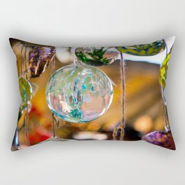 in that orb was a story of color and fire Rectangular Pillow