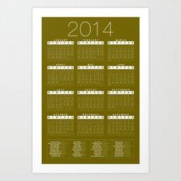 Jan C.P. Luna - 2014 Calender Poster - #11 Art Print