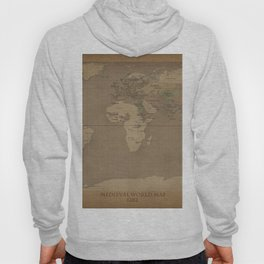 Medieval World Map Hoody