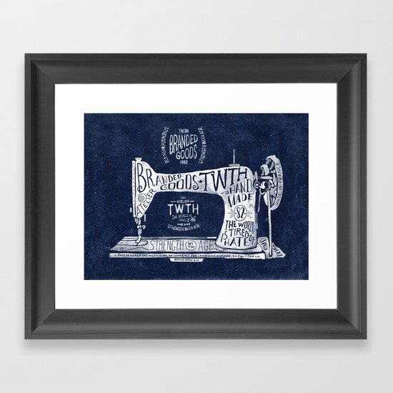 TWTH sewing machine Framed Art Print