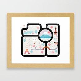 Map of Japan Framed Art Print