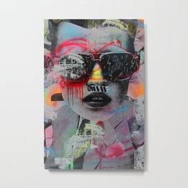 Graffiti Wall NYC Metal Print