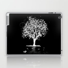Tree with flowers in spring Laptop & iPad Skin