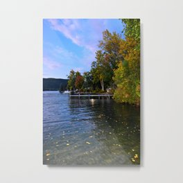 Autumn Arrives at the Lake Metal Print