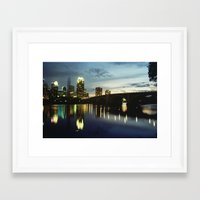 minneapolis Framed Art Prints featuring Minneapolis by Tyler Vespa