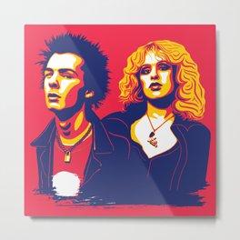 Sid & Nancy Metal Print