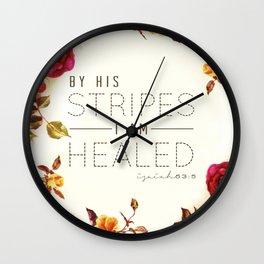 Isaiah 53:5 Wall Clock