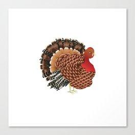 Cartoon turkey Canvas Print