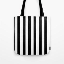 Parisian Black & White Stripes (vertical) Tote Bag