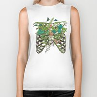 spring Biker Tanks featuring Daydreamer by Huebucket