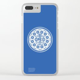 """""""OREO"""" Biscuit poster Clear iPhone Case"""