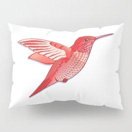 Red hummingbird colibri. Pillow Sham