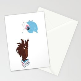 Porcupine and Balloon Stationery Cards