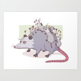 Mama Possum Art Print