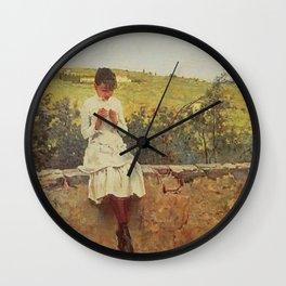 Sulle Colline A Settignano By Telemaco Signorini | Reproduction | Italian Painter Wall Clock