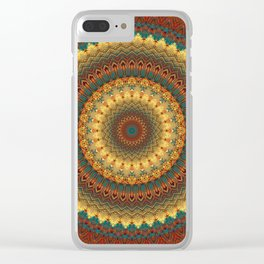 Earth Mandala 6 Clear iPhone Case