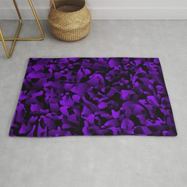 Explosive bright on color from spots and splashes of violet paints. Rug