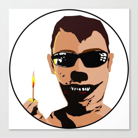 Mr. F - Arsonist Canvas Print