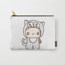 Cute White Wolf Carry-All Pouch
