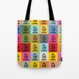HAPPY SQUARES Tote Bag