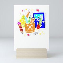 School Supplies Mini Art Print