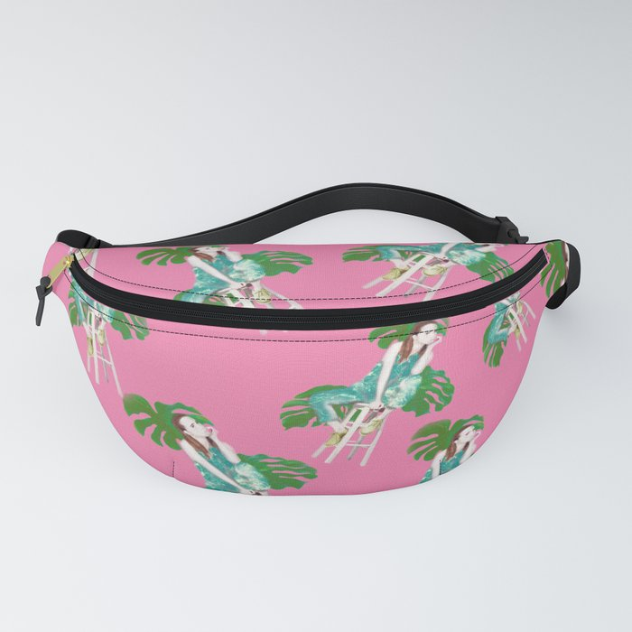 Monstera on the beach Fanny Pack