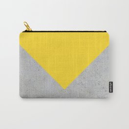 Yellow & Grey Concrete Carry-All Pouch