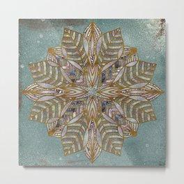 Mandala Snowflake Metal Print
