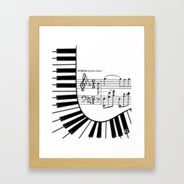 Piano keys I Framed Art Print