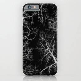 Black and white tree photography - Watercolor series #10 iPhone Case