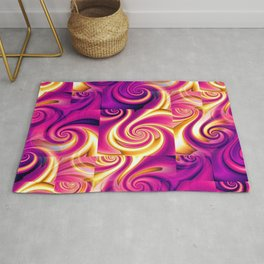 Awesome Lushness Pattern (magenta and gold) Rug