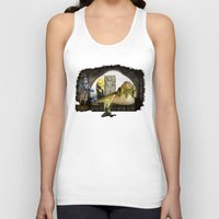 kermit Tank Tops featuring Kermit the Hut by scott sherwood