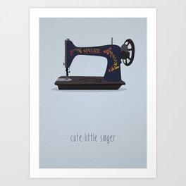 Cute Little Singer Art Print