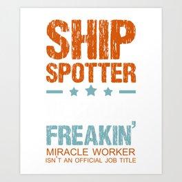 Ship Cruise Spotter Gift Ship Spotter Art Print