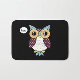 Fancy owl Bath Mat