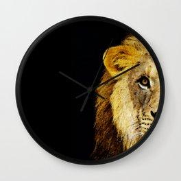 Lion Art - Face Off Wall Clock