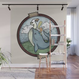 Tai Chi The Rabbit and The Whale Wall Mural